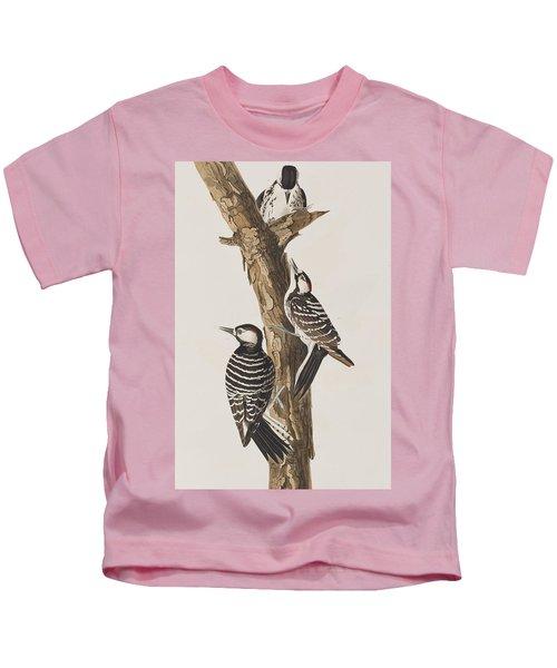 Red-cockaded Woodpecker Kids T-Shirt by John James Audubon