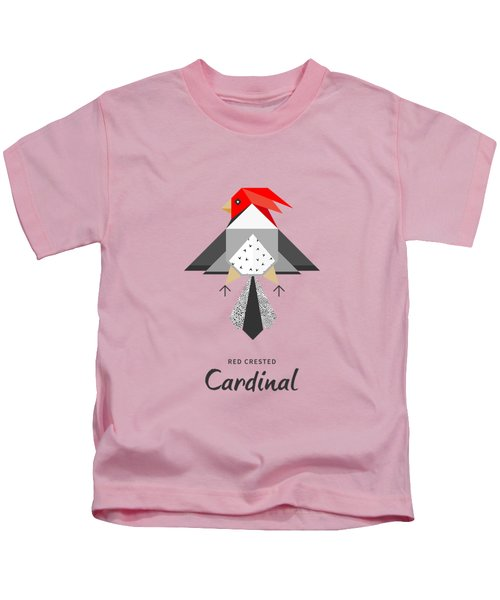 Red-crested Cardinal Minimalist Kids T-Shirt