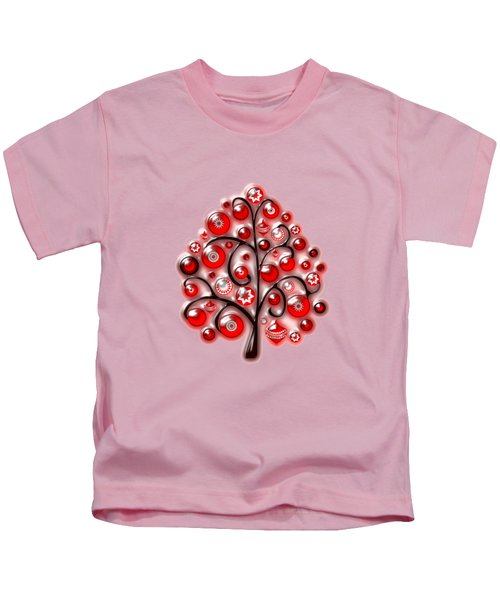 Red Glass Ornaments Kids T-Shirt