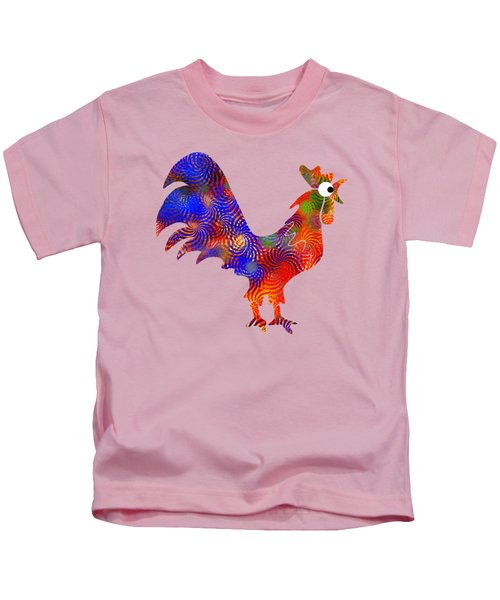 Red Rooster Art Kids T-Shirt