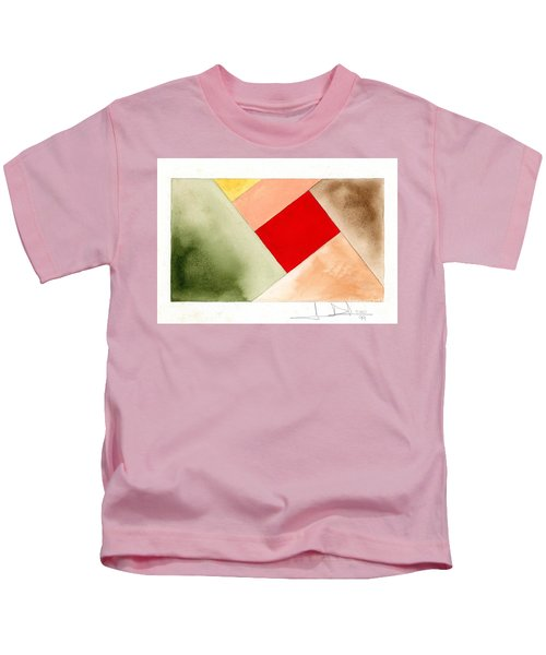 Red Square Tanned Kids T-Shirt