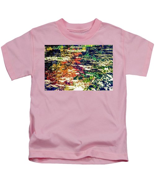Reflection On Oscar - Claude Monet's  Garden Pond  Kids T-Shirt
