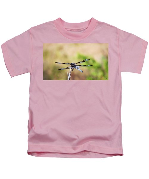 Rest Area, Dragonfly On A Branch Kids T-Shirt