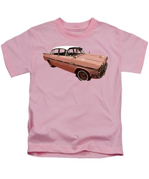 Retro Pink Car Art Kids T-Shirt