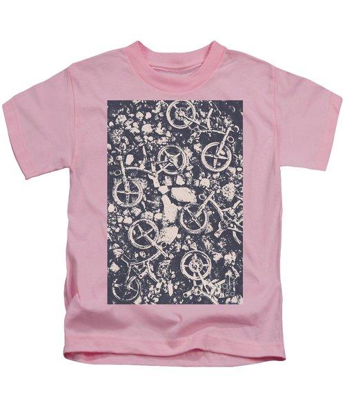 Rocky Mountain Bike Trail Kids T-Shirt