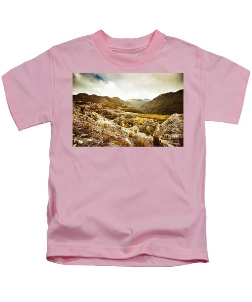 Rocky Valley Mountains Kids T-Shirt