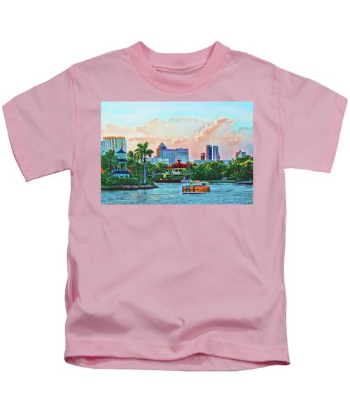 Rolling Down The New River Kids T-Shirt