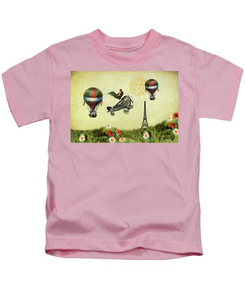 Rooster Flying High Kids T-Shirt