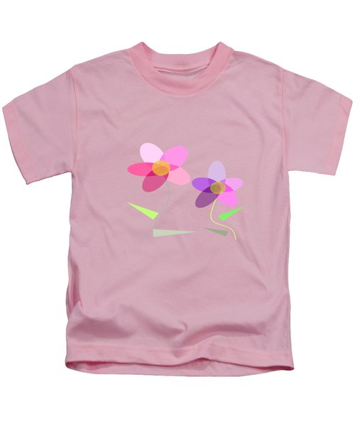Rows Of Flowers Kids T-Shirt