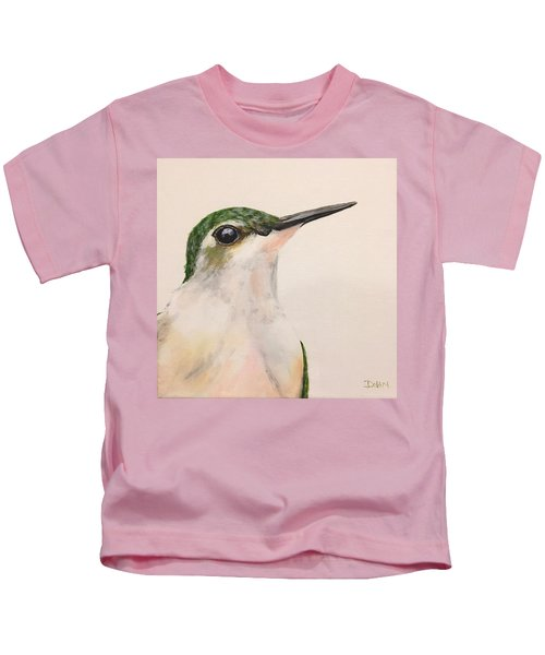 Ruby Throated Hummingbird Kids T-Shirt