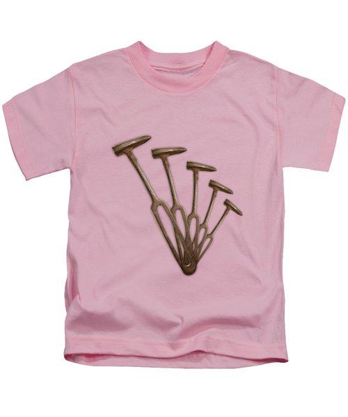 Rustic Hammer Pattern Kids T-Shirt