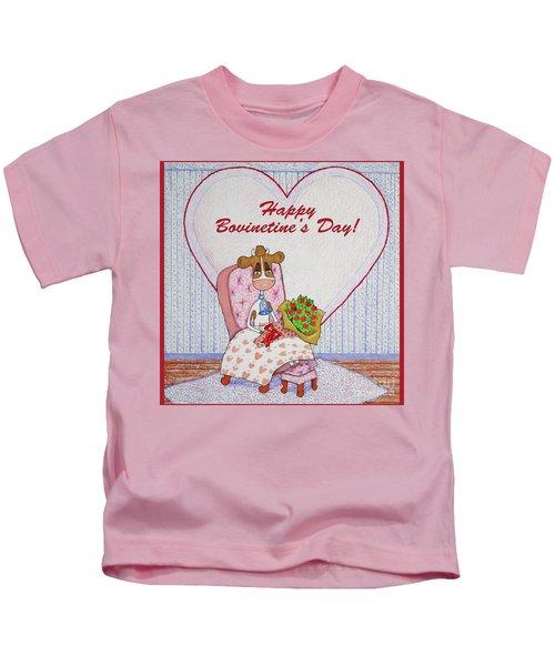 Ruthie-moo Flowers Happy Bovinetine's Day Kids T-Shirt