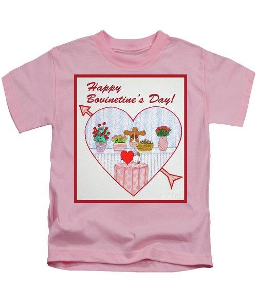 Ruthie-moo Happy Bovinetinesday Kids T-Shirt
