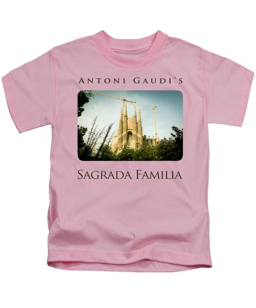 Sagrada Familia With Catalonia's Flag Kids T-Shirt by Alejandro Ascanio