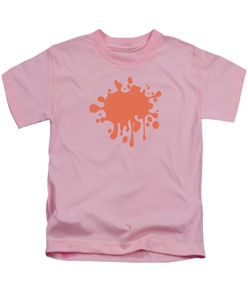 Salmon Color Accent Decor Kids T-Shirt by Garaga Designs