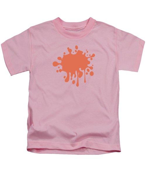 Salmon Color Accent Decor Kids T-Shirt