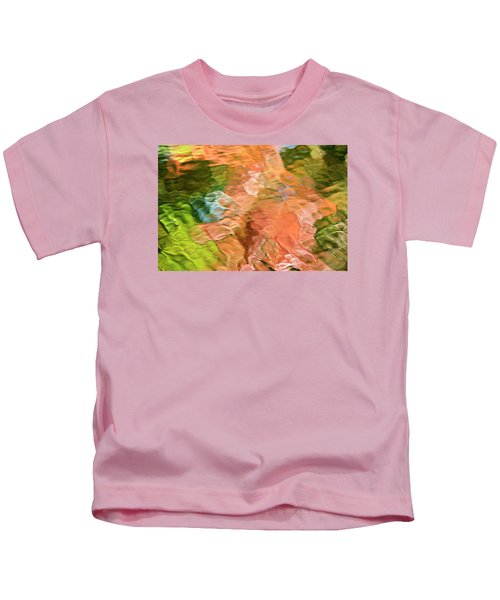 Salmon Mosaic Abstract Kids T-Shirt