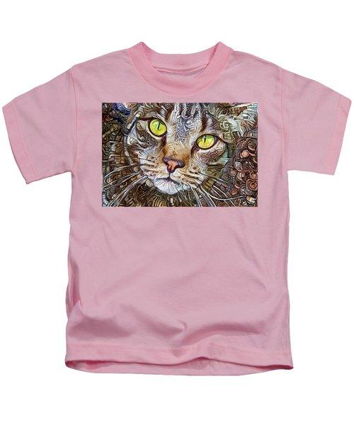 Sam The Tabby Cat Kids T-Shirt