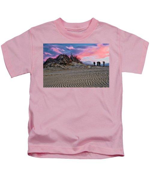 Sand Dunes Of Kitty Hawk Kids T-Shirt