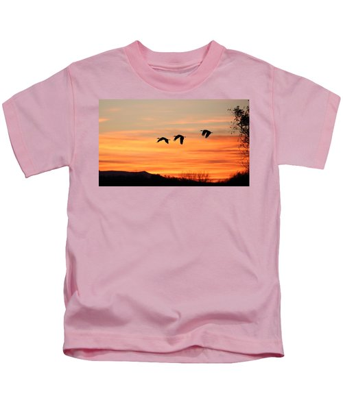 Sandhill Sunrise 2 Kids T-Shirt