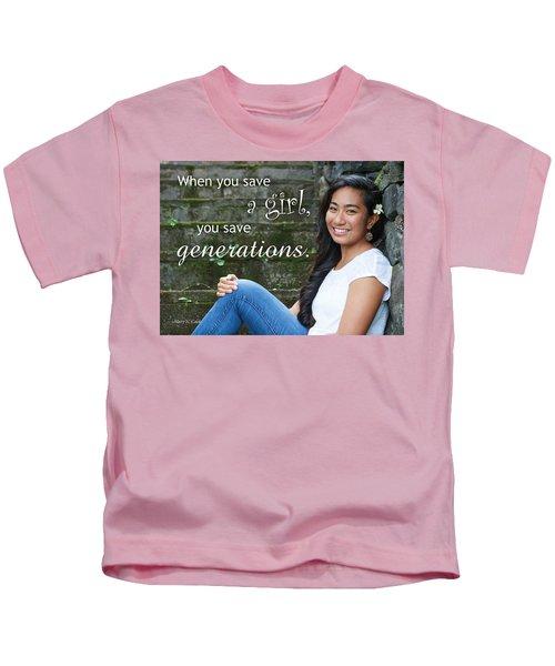 Save A Girl Kids T-Shirt