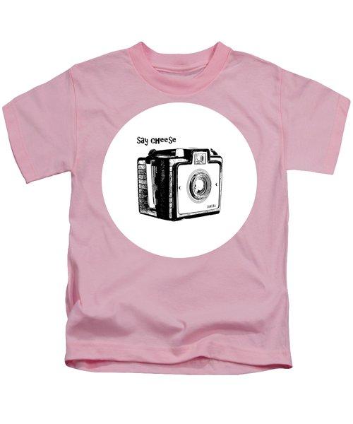 Say Cheese Old Film Camera Round Circle Blanket Towel Kids T-Shirt