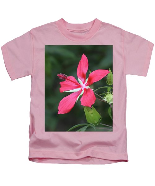 Scarlet Hibiscus #4 Kids T-Shirt