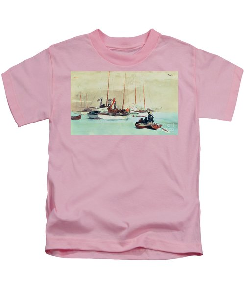 Schooners At Anchor In Key West Kids T-Shirt