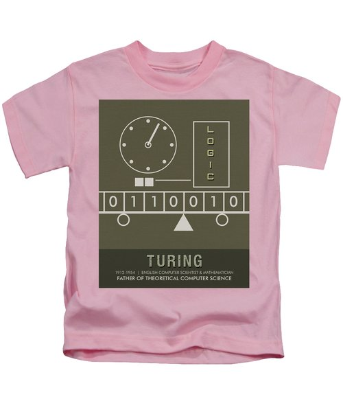 Science Posters - Alan Turing - Mathematician, Computer Scientist Kids T-Shirt