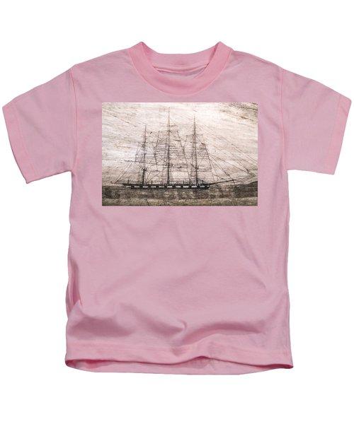 Scrimshaw Whale Panbone Kids T-Shirt
