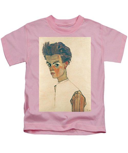 Self-portrait With Striped Shirt Kids T-Shirt