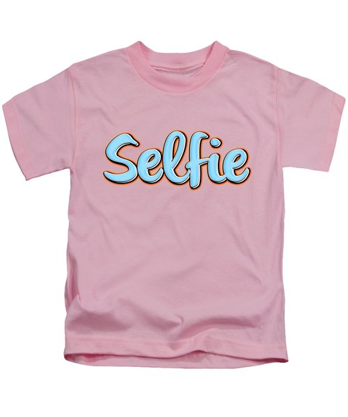 Kids T-Shirt featuring the digital art Selfie Tee by Edward Fielding