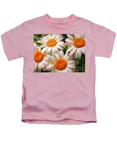 Shasta Daisies 2015 Kids T-Shirt
