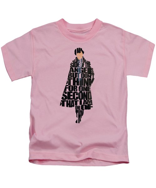 Sherlock - Benedict Cumberbatch Kids T-Shirt