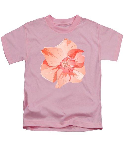 Short Trumpet Daffodil In Warm Pink Kids T-Shirt