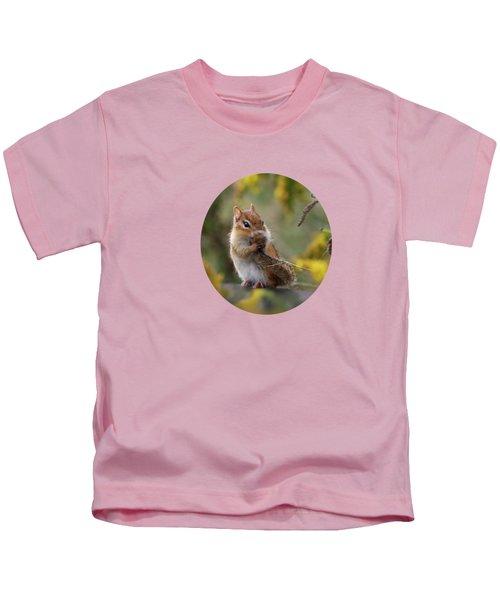 Shy Little Chipmunk Kids T-Shirt