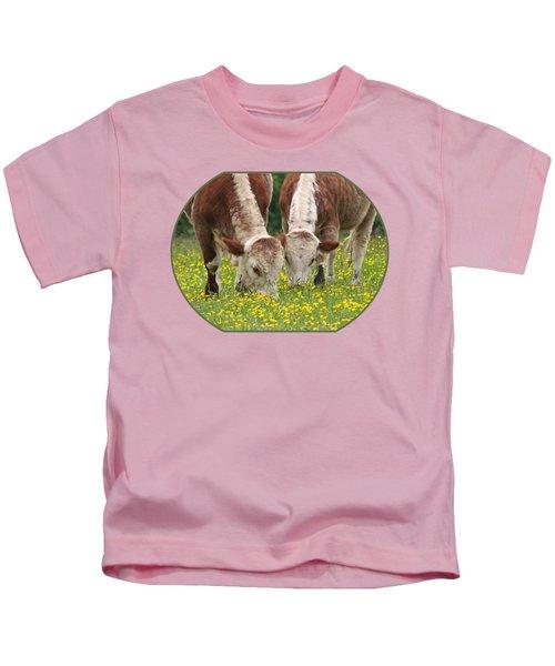 Sisters - Brown Cows Kids T-Shirt