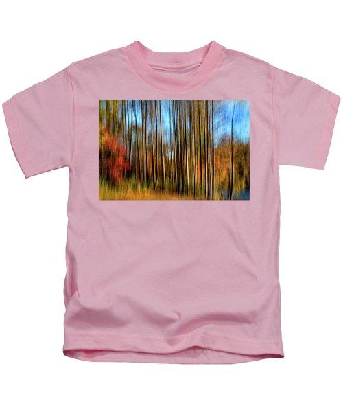 Skinny Forest Swipe Kids T-Shirt