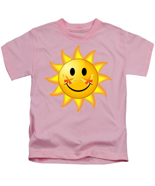Smiley Face Sun Kids T-Shirt