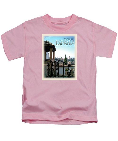 Sojourn In Espania Kids T-Shirt