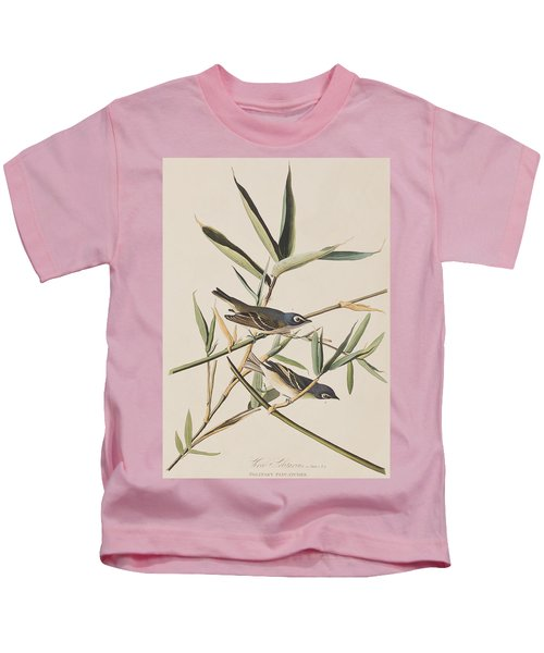 Solitary Flycatcher Or Vireo Kids T-Shirt by John James Audubon