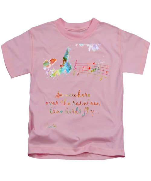Somewhere Over The Rainbow Kids T-Shirt by Nikki Smith