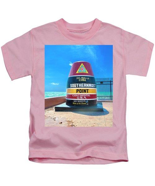 Southern Most Point Florida Keys Kids T-Shirt