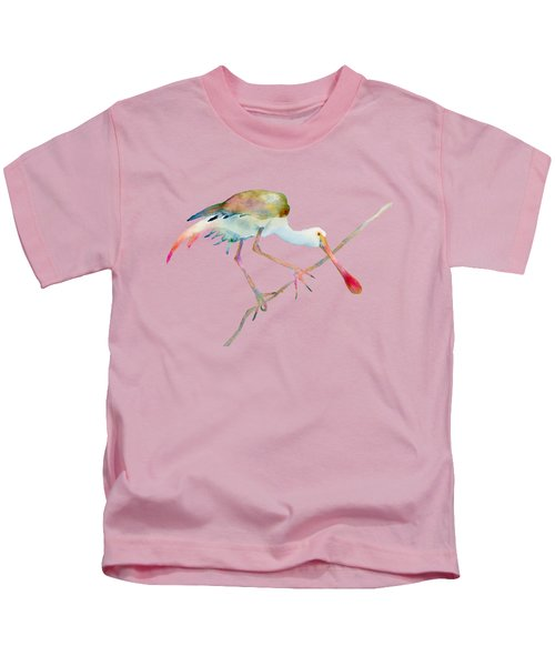 Spoonbill  Kids T-Shirt by Amy Kirkpatrick