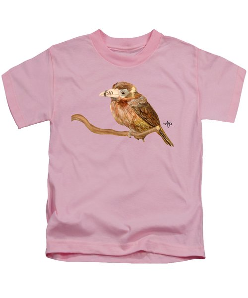 Spot-billed Toucanet Kids T-Shirt by Angeles M Pomata