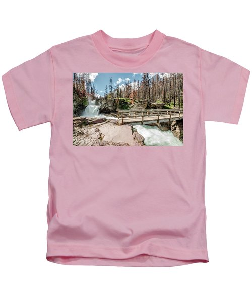 St. Mary Falls With Bridge Kids T-Shirt