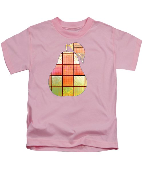 Stained Glass Pear Kids T-Shirt