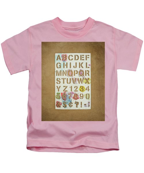 Stencil Alphabet Fun Kids T-Shirt