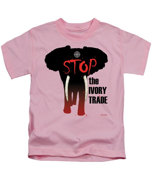 Stop The Ivory Trade Kids T-Shirt