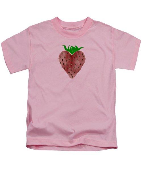Strawberries Kids T-Shirt by Kathleen Sartoris